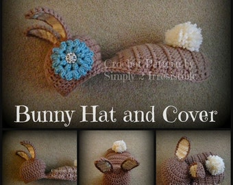 Chunky Bunny Beanie and Cover Cape - Quick and Easy - Crochet Pattern 121 - INSTANT DOWNLOAD