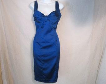Vintage Calvin Klein Midnight Blue Silky Dress