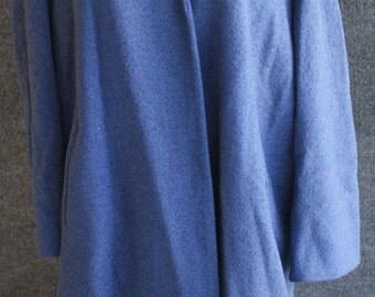Vintage Blue Marshall Fields 3/4 Sleeve Jacket