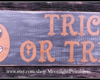 Halloween, Halloween Signs, Vintage Halloween, Pumpkin, Wooden Signs