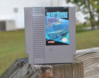 Vintage Silent Service Original Nintendo Game (NES) 8 bit