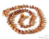 Baltic Amber Teething Necklaces for Babies Rounded Raw Unpolished Amber Beads