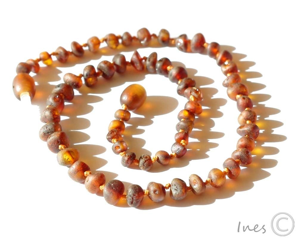 Baltic Amber Teething Necklaces For Babies Rounded Raw