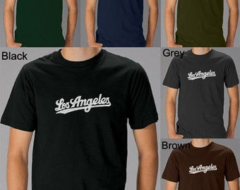 Men's T-shirt - Los Angeles Neighborhoods - Created using the neighborhoods that make up the City of Los Angeles