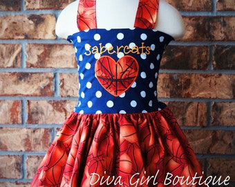 Girls Boutique Dress Basketball Dress Outfit of Choice Pageant Dress Birthday dress Boutique Hair Bow 6m 12m 18m 24m 2T 3T 4T 5 6