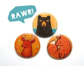 woodland creature buttons