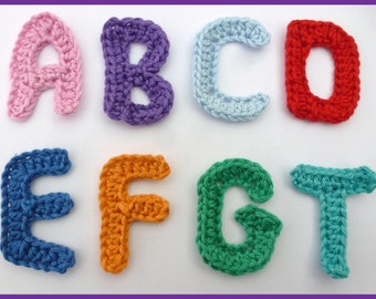 Minecraft Amigurumi Pattern Free : Items similar to Crochet Letters, Alphabet, Amigurumi ...