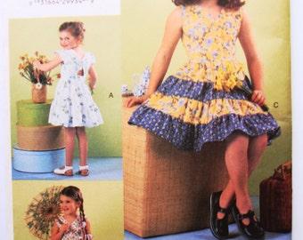 Girl's Dress Pattern - Vogue size 6,7&8