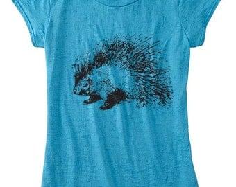 Porcupine Shirt, Womens TShirt, Porcupine Clothing, Womens Porcupine TShirt
