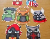 Avengers Owls Sticker Set