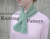 Captivating Scarflette Scarf PDF Knitting Pattern, Easy Short Scarf, Flared Ends, Ascot Scarf, Neckwarmer