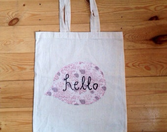 Hello Speech Bubble Tote Bag