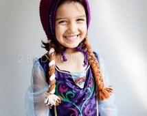 Anna Hat -  Frozen Anna Hat - Anna Costume, Anna wig - Anna hat - Princess Anna Hat - Crochet Anna Hat - Inspired Anna hat Toddler Halloween