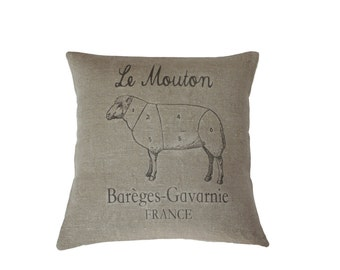 Le Mouton - European Grain Sack Cushion cover