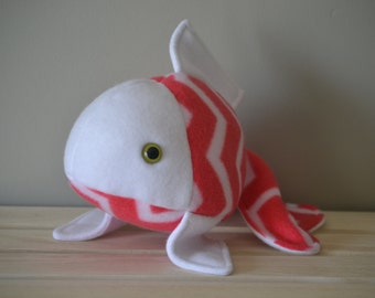 Red Chevron Goldfish Toy