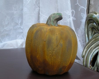 Rusty Pumpkin Fall Autumn Decor