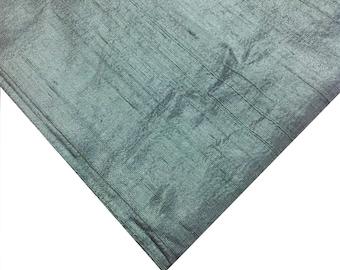 Indian Silk Fabric - Pure Silk Dupioni in Mint - Raw Mulberry Silk - Mint Color - Indian Dupioni Silk -Dupioni Silk