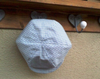 Plaid Blue and yellow  Newsboy hat,  newsboy hat,  boy hat, beret for boys, plaid hat, beret for boys