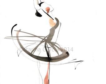 Dance Drawing Series Ballet Print