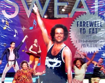 richard simmons workout video. sealed richard simmons farewell to fat disco sweat excercise program 1994 gay interest vhs video cassette richard simmons workout o