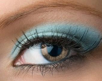 "Light Blue Eyeshadow - ""Atlantis"" - Frosty Aqua Blue Vegan Mineral Eyeshadow Net Wt 2g Mineral Makeup Eye Color Pigment"