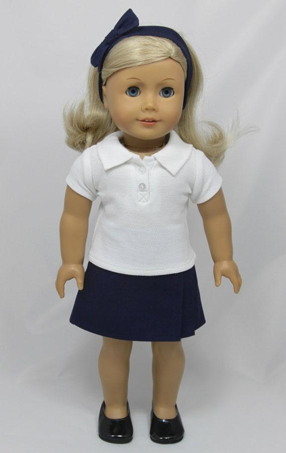 american girl doll school uniform navy skort by