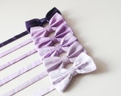 Men Boys Bow Tie Bow Ties - Wedding Groom Bowtie Bowties Purple Lavender Violet  Dot Dots Checks Strips