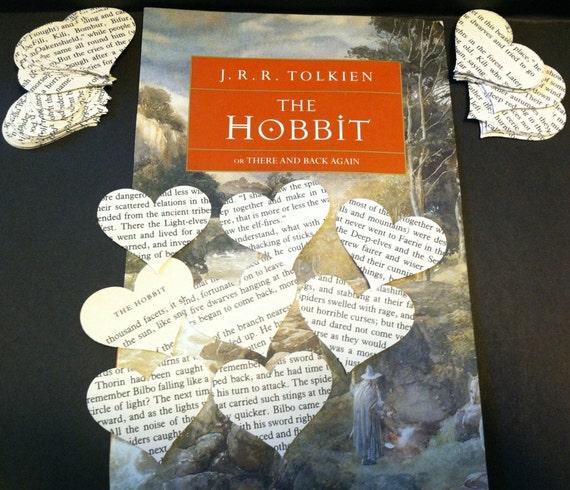 The Hobbit Paper Confetti Hearts Set of 100 J. R. R. Tolkien Scrapbook Party Babyshower Wedding Shower