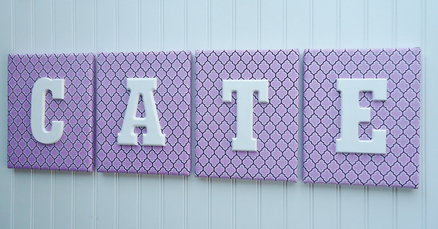 Nursery Wall Letters Nursery Decor Upholstered By Fabbdesigns