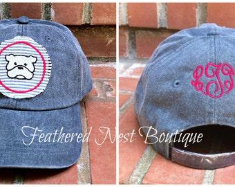 Mascot Baseball Hat - Monogram Hat - Monogrammed Hat - Monogram Baseball Cap - Monogrammed Baseball Hat - College Mascot Hat - Monogram back