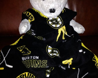 Boston Bruins Hockey Fleece Sports Baby Blanket