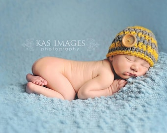 Baby boy hat, baby boy hats, newborn boy hat, newborn boy photo prop, baby boy clothes, baby boy coming home outfit, grey and mustard yellow