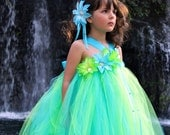 Mermaid Princess, Flower Girl - Tutu Dress size 12-18m, 2t, 3t, 4t, 5t, 6 girls