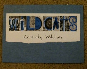 Kentucky Wildcats Talking Treasures 5x7 Ready to Frame Photo Word Art