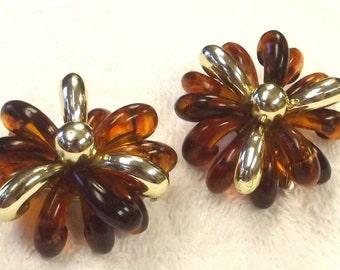 Vintage Jewelry Hair Clip Set - Tortoise Shell Hair Accessory - Retro Barrette Clips -
