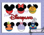 Disney Digital File, DIY Print Iron On-Disneyland Super Six Vacation Mickey Mouse Minnie Mouse Pluto Goofy Donald Duck Daisy Duck