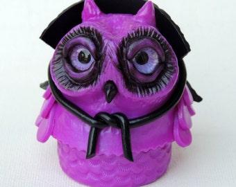 Dracula owlet box in polymer clay