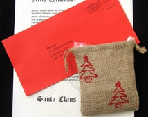 Popular items for santa letter on etsy for Personalized letter from santa with reindeer food
