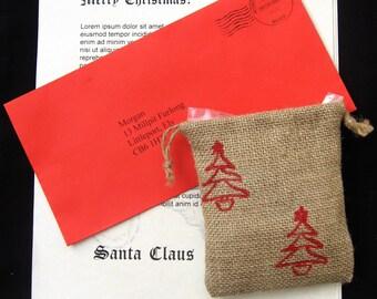 Letter from Santa Letter w/ Reindeer Food, Personalized Letter from Santa, Santa Claus Letter w/Reindeer Food, Handwritten Letter from Santa