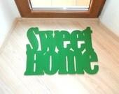 """Door mat """"Sweet home"""". Personalized doormat. Cool rug"""