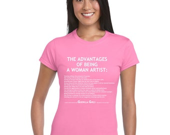 The Advantages of Being a Woman Artist. Woman Artist Tshirt.