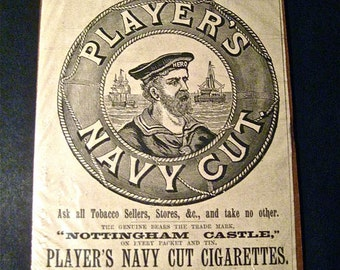 Original Vintage Players Cigarettes Ad Dated 1896