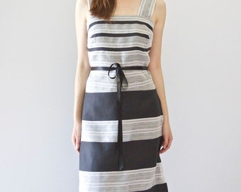 Black and White A-line Cocktail Dress
