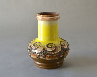 Vintage Strehla East German pottery vase 93-25 GDR Mid Century Modern ceramic ceramics