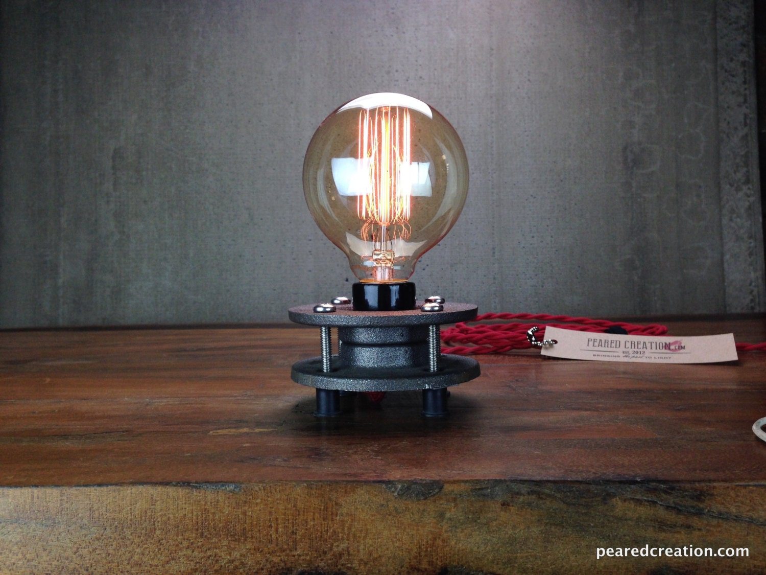 Nice Description. This Is A Simple Edison Table Lamp ...