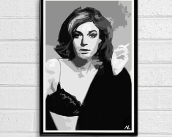 The Graduate Mrs. Robinson Classic Movie Pop Art Film Poster Print Canvas