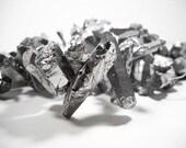 Silver Titanium Coated Quartz Point Nugget Beads 13mm - 50mm