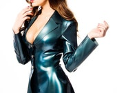 LYNNE Latex Rubber Miniskirt