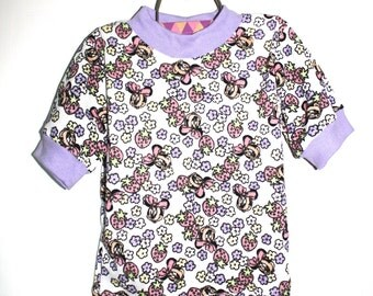Vintage Girls MINNIE MOUSE SHIRT Handmade Deadstock (Size 4)
