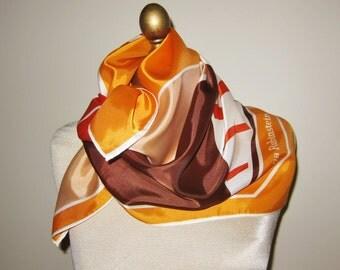 Helena Rubinstein,  vintage scarf, 1970s  make up. 70s cosmetics, ladies headscarf, hairwrap, vintage scarves